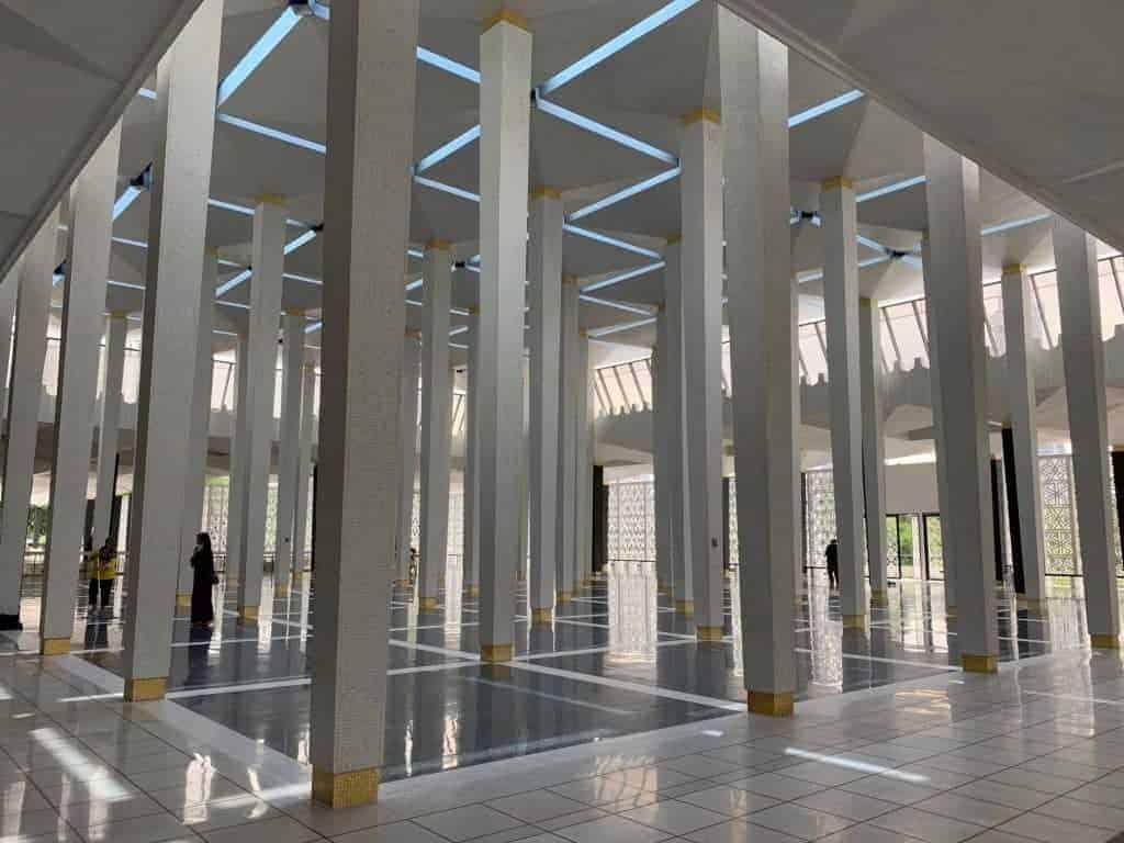 Inside National Mosque